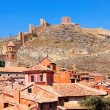 Albarracin with ancient fortress wall — Stock Photo