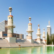 Panorama of Parc de l'Espanya Industrial in sunny day — Stock Photo