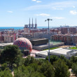Panoramic view of Badalona from high point. — Stock Photo