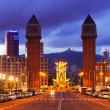 Dusk niew of Barcelona, Spain — Stock Photo