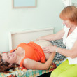 Pregnant woman  during medical examination — Stock Photo