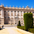 Madrid. Main facade of Royal Palace   — Stock Photo