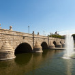 Bridge over Manzanares in sunny day. Madrid — Stock Photo