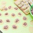 Cooking meat dumplings (pelmeni) — Foto de Stock
