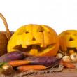 Halloween pumpkin and vegetables — Stock Photo