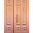 Wooden double door. Isolated over white — Stock Photo