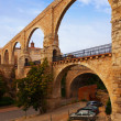 Los Arcos aqueduct. Teruel — Stock Photo