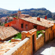 Residence stony houses in Albarracin.  Aragon — Foto de Stock