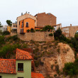 Panoramic view of Teruel with Los Arcos aqueduct — Photo