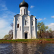 Church of Intercession on River Nerl in flood — Stock Photo #35142241