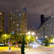 Residential district  in night. Valencia — Stock Photo