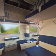Interior of sleeper train — Stock Photo #35142547
