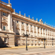Royal Palace in sunny day . Madrid — Stock Photo