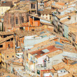 View of  Cardona roofs from castle — Stock Photo
