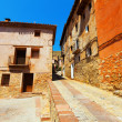 Picturesque street of old spanish town — Stock Photo