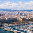 Top view of Port Vell in Barcelona — Stock Photo