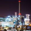Night view of power plant — Stock Photo