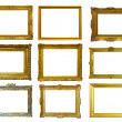 Gold picture frames. Isolated over white — Stock Photo #35144209
