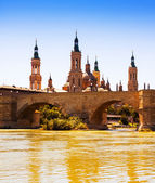 View of Zaragoza in sunny day — Stock Photo