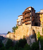 Hanging Houses on rocks in Cuenca — Foto de Stock