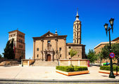 Church of San Juan de los Panetes and Zuda Tower — Stock Photo