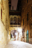 Night view of Barrio Gotico — Stock Photo