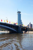 View of Moscow. Bolshoy Krasnokholmsky Bridge — Stock Photo