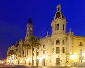 City hall in evening. Valencia — Stock Photo
