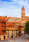 Street with church in Teruel — Stock Photo
