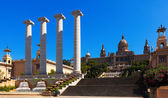 National Palace of Montjuic in sunny day. Barcelona — Foto de Stock