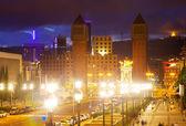 Vista de la plaza de españa de noche — Foto de Stock