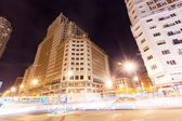 Night view of Spain Building — Stock Photo