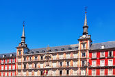 Picturesque houses at Plaza Mayor. Madrid — Stockfoto
