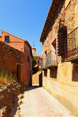 Narrow street of old town in summer — Stock Photo