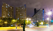 Residential district in night. Valencia — Stockfoto