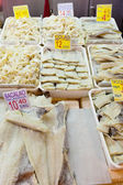 Salted fish on the counter — Foto de Stock