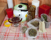 Herbs at home kitchen — 图库照片