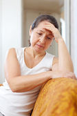 Sadness mature woman — Stock Photo