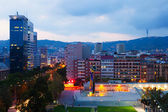 Residential district at Barcelona in evening — Stock Photo