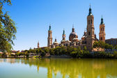 Summer view of Cathedral in Zaragoza — Stock Photo