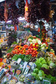 Vegetables on market counter — Stock Photo