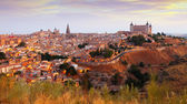 Toledo from hill in summer morning — Stockfoto