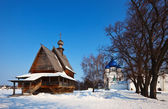 Churches at Suzdal in winter. Russia — Foto Stock