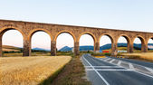 Aqueduct near Pamplona. Navarre — Stock Photo