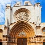 Main facade of Tarragona Cathedral — Stock Photo #38413919