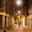 Night street view of Girona — Stock Photo
