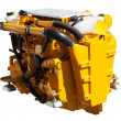 Yellow engine of motor boat — Stock Photo
