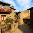 Old street in medieval Catalan village — Stock Photo