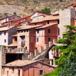 Stock Photo: Picturesque residence houses in Albarracin