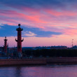 Rostral columns in summer morning — Stock Photo